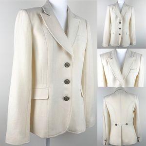 Banana Republic Winter Wool White Coat Jacket P12